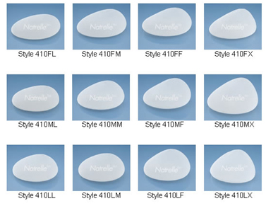 Different silicone implants